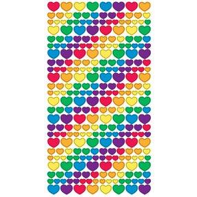 Metallic Rainbow Hearts Stickers_52-40036