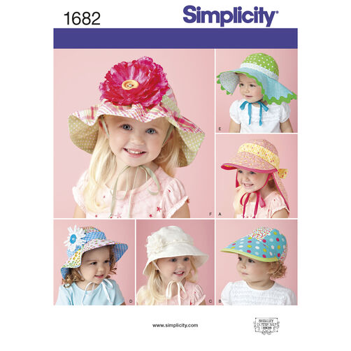 Simplicity Pattern 1682 Child's Hats in Four Sizes