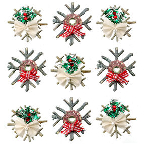 Wooden Snowflakes Stickers_50-21580
