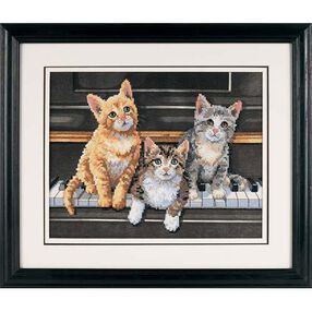 Meowsical Trio, Stamped Cross Stitch_03225