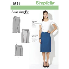 Simplicity Pattern 1541 Misses' & Miss Petite Amazing Fit Skirt
