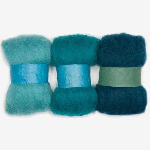 Blue Wool Roving Trio, Needle Felting_72-73932
