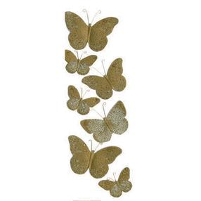 Golden Butterfly Stickers_M860443