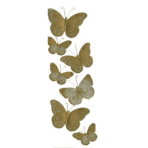 Golden Butterfly Stickers_M860443
