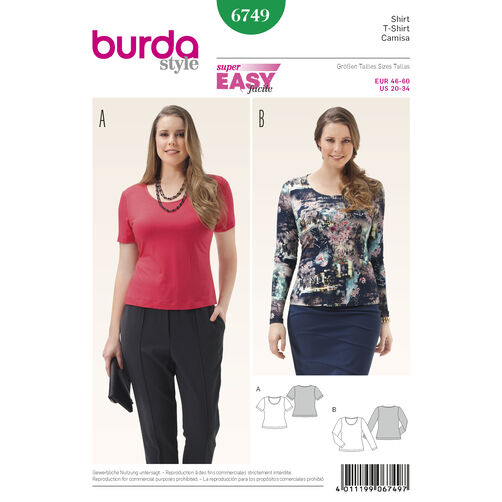 Misses' and Plus Size Shirt