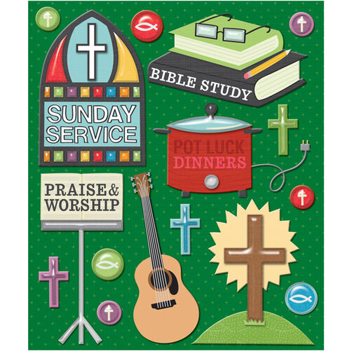 Church Activities Sticker Medley_30-586864
