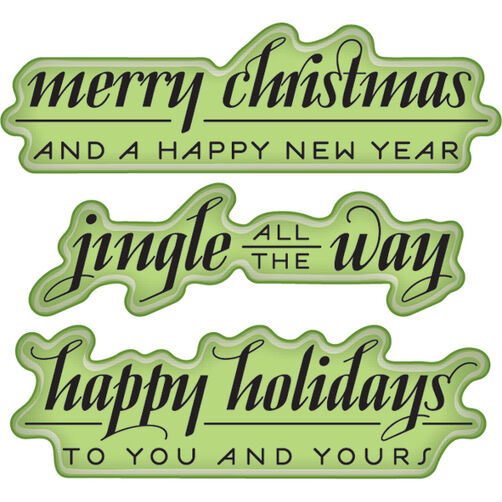 Holiday Greetings Mini Cling Stamps_60-60294
