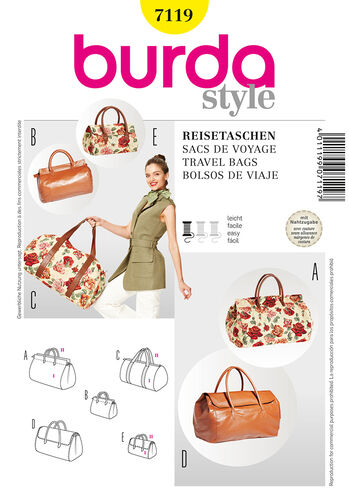Burda Style Pattern 7119 Travel Bags