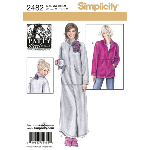 Simplicity Pattern 2482 Misses Sleepwear, Patty Reed Collection