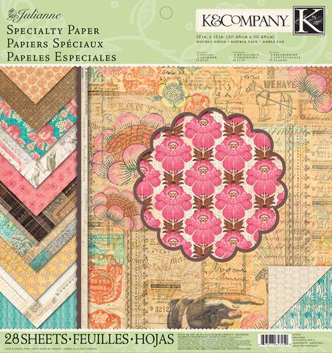 Julianne Vintage 12x12 Specialty Paper Pad_30-657250