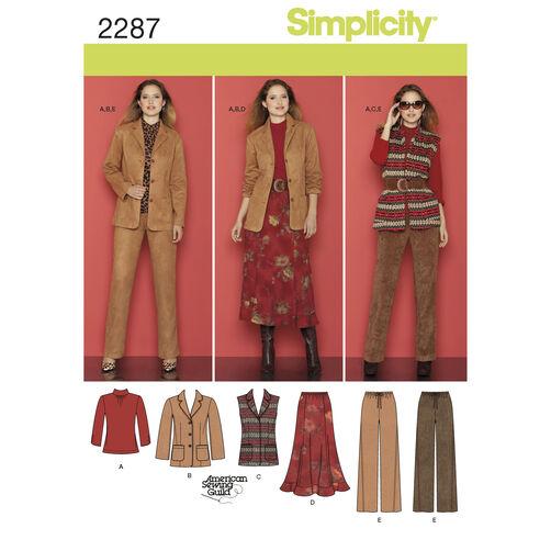 Simplicity Pattern 2287 Misses' & Plus Size Sportswear