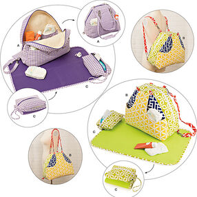 Convertible Diaper Bags and Changing Pads