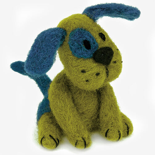 Green Puppy Kit in Needle Felting_72-74042