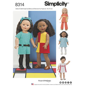 Simplicity Pattern 8314 18 Inch Doll Clothes