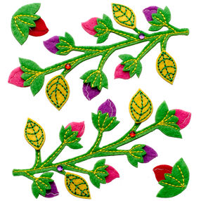Branches With Colorful Buds Stickers_50-21306