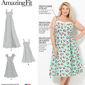 Pattern 8096 Amazing Fit Plus Size Dresses