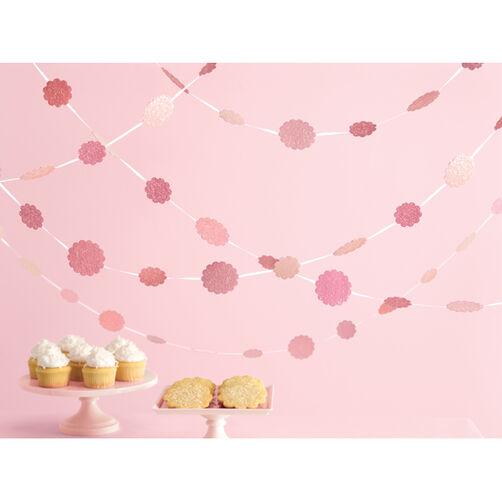 Vintage Girl Pink Glittered Dot Garland_44-20018