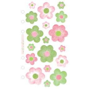 Vellum Green and pink Flowers_SPZG05