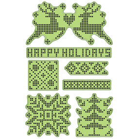Holiday Textile Cling Stamp Set_60-60337