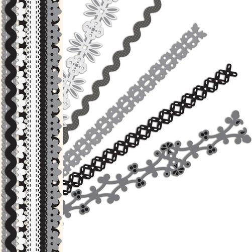 Sheer Simplicity Black & White Adhesive Borders_30-595149