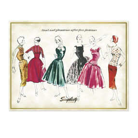 Simplicity Vintage After-Five Fashions Poster