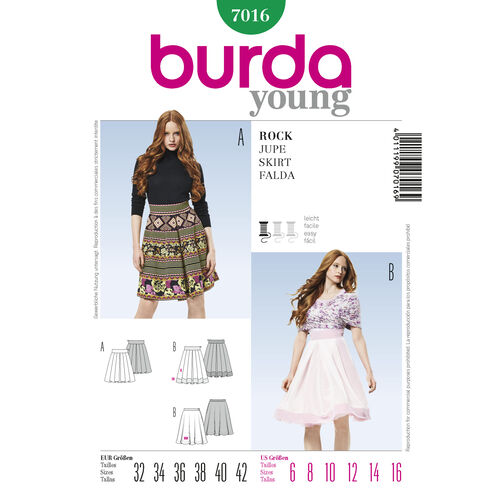 Burda Style Pattern 7016 Skirt