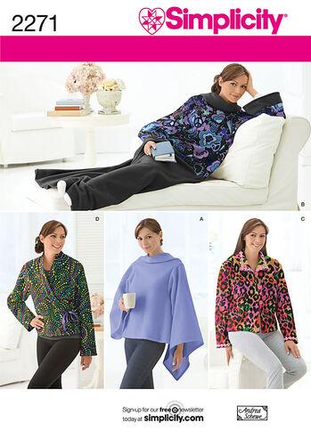Lounge Blanket & Misses' Bed Jacket