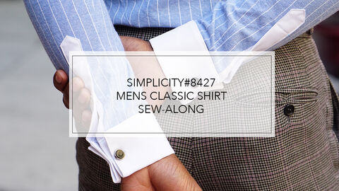 Mimi G Simplicity Pattern 8427 Sew-Along for Mens Shirt