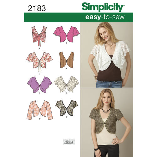 Simplicity Pattern 2183 Misses' Easy to Sew Vest or Jacket