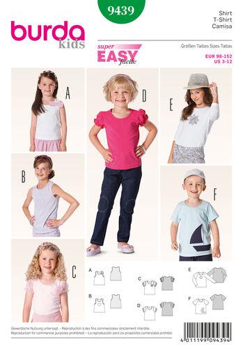 Burda Style Pattern 9439 Children