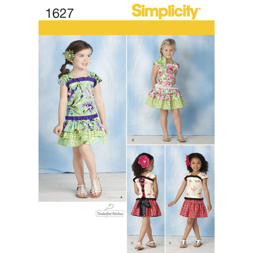 Simplicity Pattern 1627 Child's Top & Skirt
