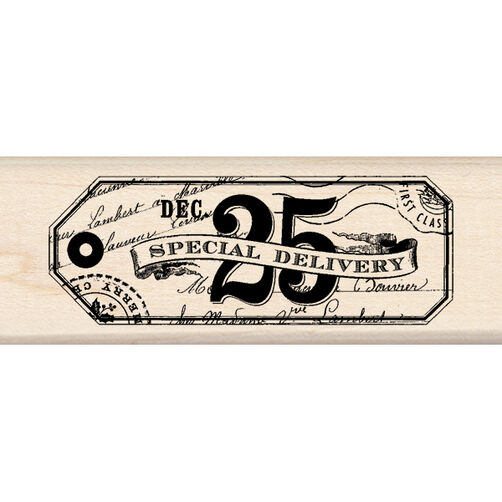 Special Delivery Tag Wood Stamp_60-00945