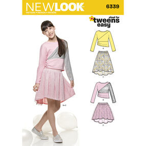 New Look Pattern 6339 Girl's Skirts and Knit Top