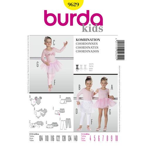 Burda Style Pattern 9629 Coordinates