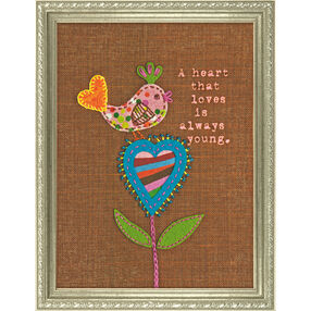 A Heart That Loves, Felt and Fabric Applique_72-73572