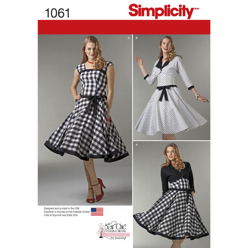 Simplicity Pattern 1061 Misses' Sew Chic Dress and Lined Jacket