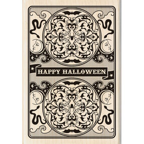 Halloween Playing Card Wood Stamp_60-00922