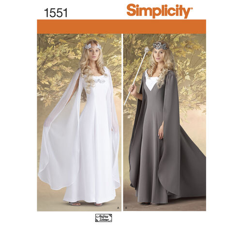 Simplicity Pattern 1551 Misses' Costumes