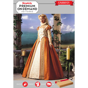 Simplicity Pattern EA888101 Premium Print On Demand Costume Pattern