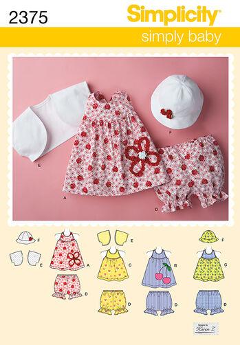 Simplicity Pattern 2375 Babies' Dress & Separates
