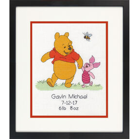 Winnie the Pooh Birth Record, Counted Cross Stitch_70-35357