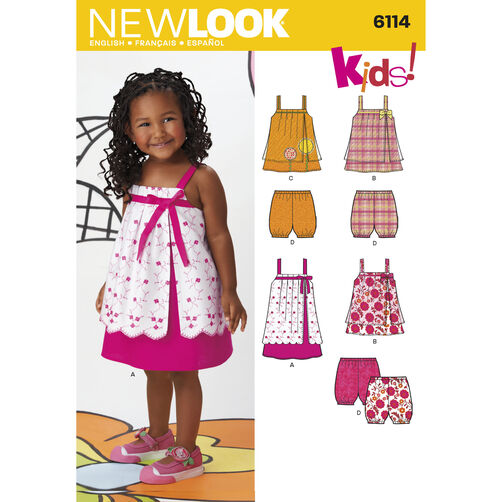 New Look Pattern 6114 Toddlers' Separates
