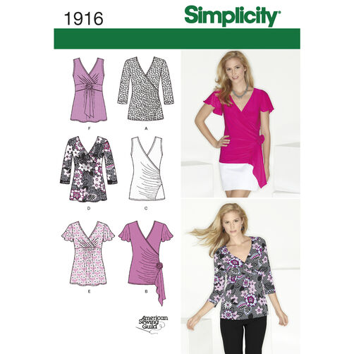 Simplicity Pattern 1916 Misses' Knit Tops