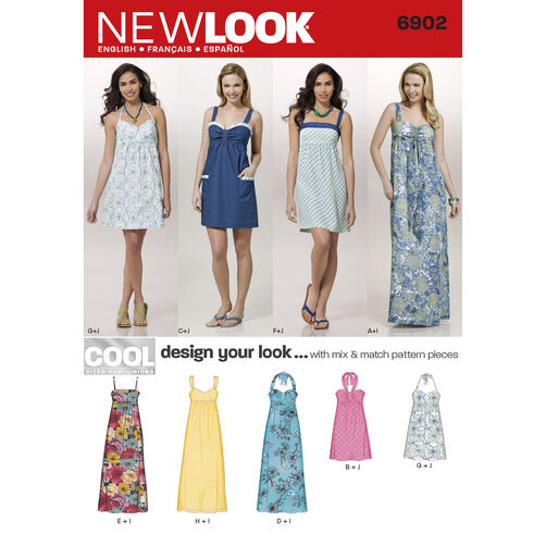 New Look Pattern 6902 Junior Dresses