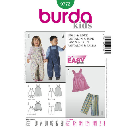 Burda Style Pattern 9772 Pants & Skirt