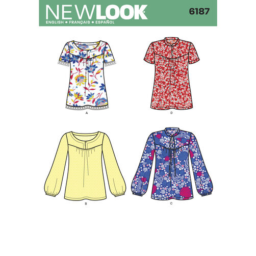 New Look Pattern 6187 Misses' Pullover Tops
