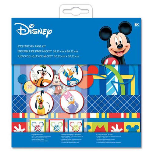 Mickey Mouse 8 x 8 Page Kit_DMPK1