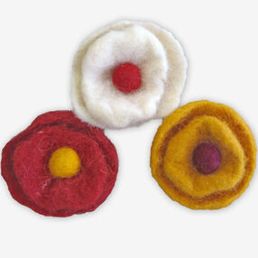 Small Wool Felt Cup Flowers_72-74028