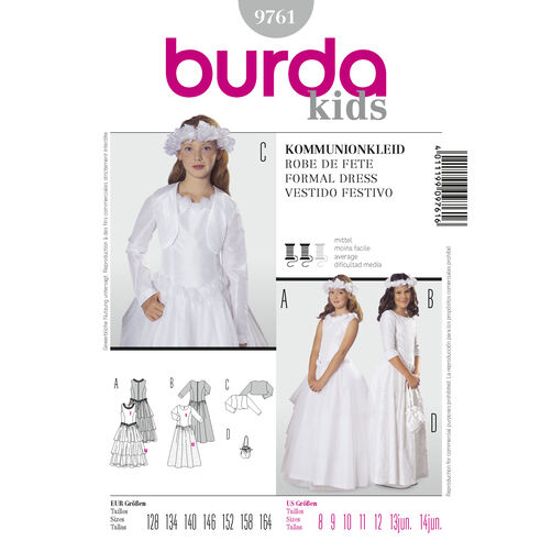 Burda Style Pattern 9761 Formal Dress