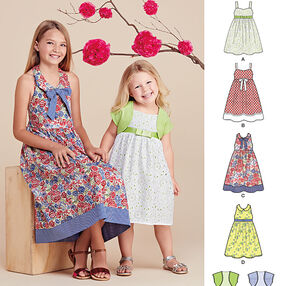 Child's and Girls' Dresses and Bolero